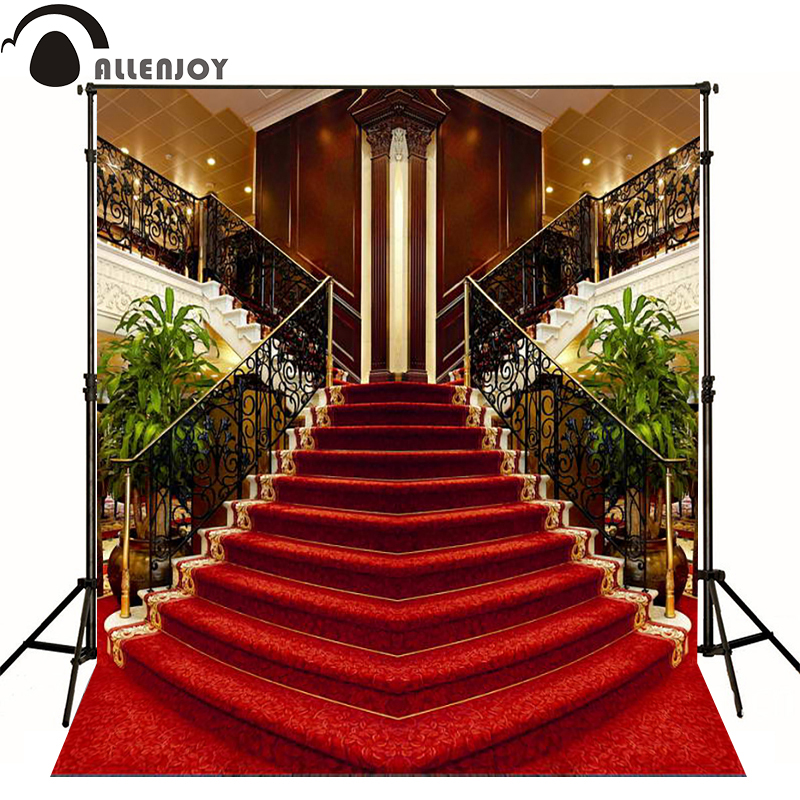 Allenjoy photographic background luxury interior stairs red carpet photography fantasy - Red carpet photographers ...