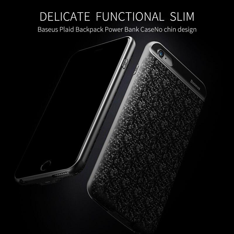 imágenes para Baseus cargador case para iphone 7 6 s plus 2500/3650 mah de potencia banco case cubierta ultra delgado paquete externo de la batería de copia de seguridad para iPhone7