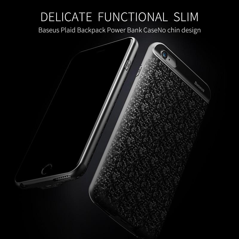 bilder für Baseus ladegerät case für iphone 7 6 s plus 2500/3650 mah power bank case ultra slim externe pack backup-batterie-abdeckung für iPhone7