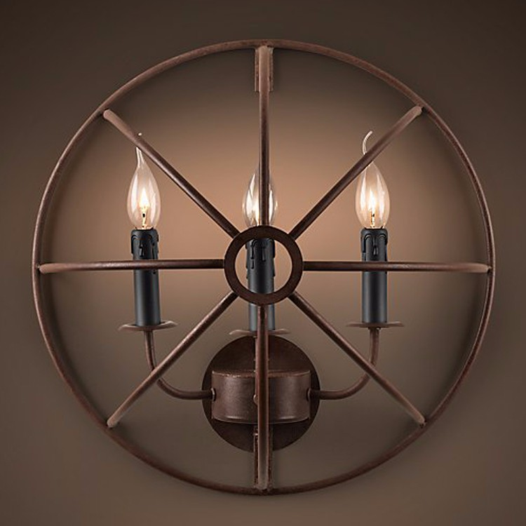 Modern Art Decor Vintage Chandelier Wall Sconce Lamp Retro Wall Light Lighting for Home Hotel Dining Room Decor