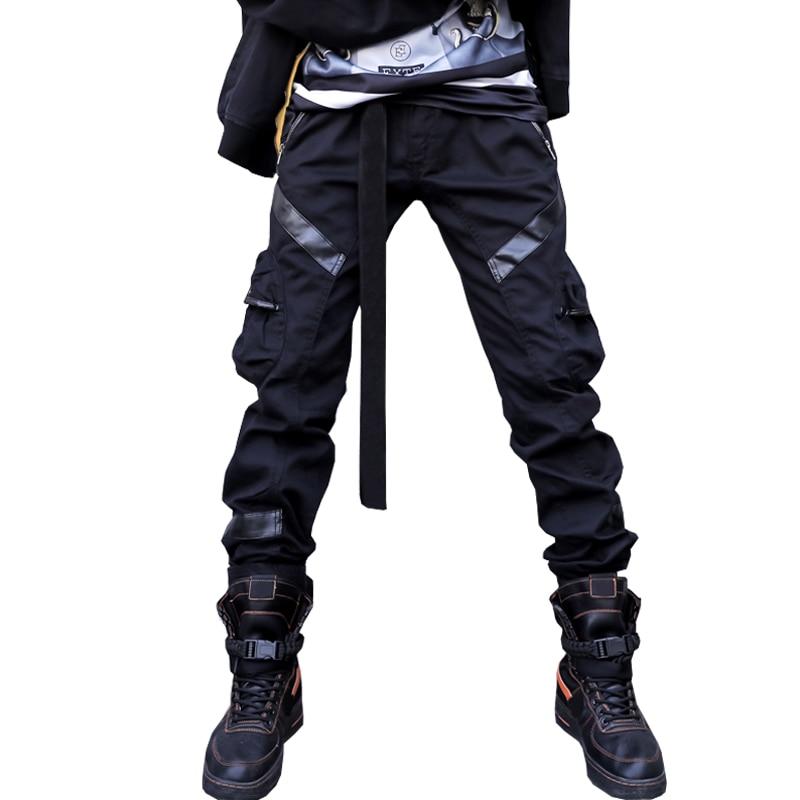 Drop Shipping Harem Pants Mens Hip Hop Block Casual Joggers Sweatpants Trousers Male Streetwear LBZ23