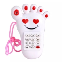 Children Simulation Telephone Voice Luminous Feet Toys Creative Educational Male Girl Gift Music Toys