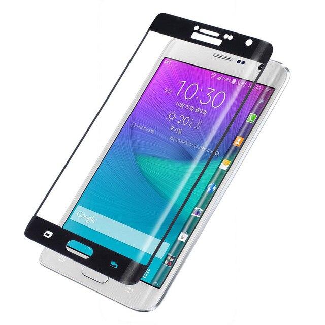 Para la Nota 5 Cobertura borde Completo de Alta Calidad Protector de Pantalla de Cristal Templado Película Protectora Para Samsung Galaxy Note N9150 Edge