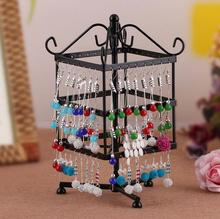 Free shipping 96 Holes Earrings Stud Necklace Jewelry Display Jewllery organization Multifunctional Metal Stand Holder