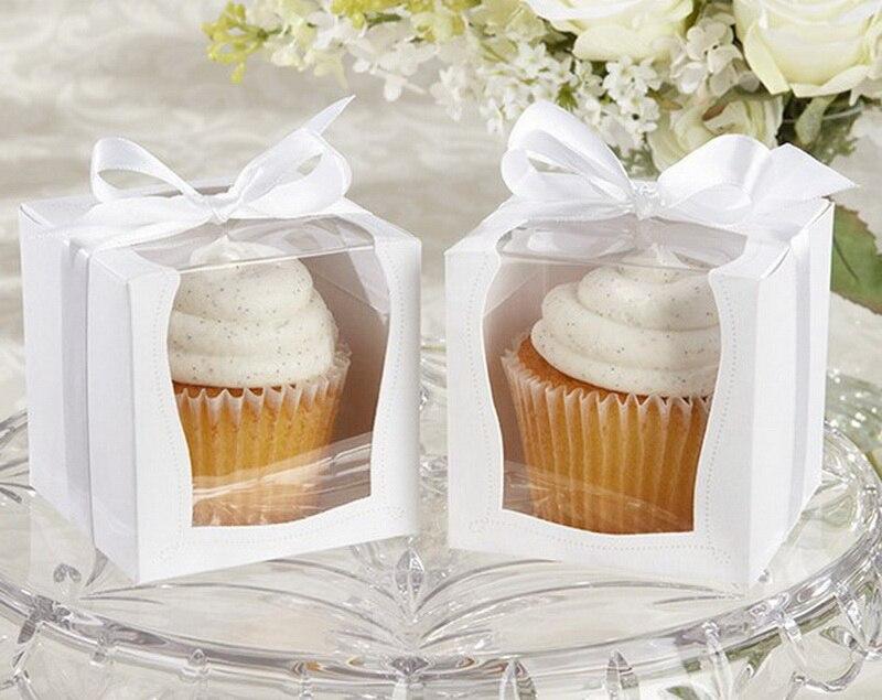 UUSI DESIGN Yksi 9x9x9cm Cupcake-laatikot Häät-lahjapakkaus Favor - Tavarat lomien ja puolueiden - Valokuva 5