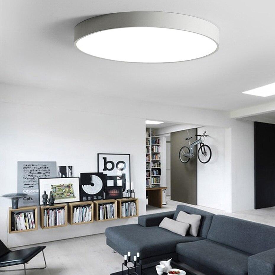 Lámpara de techo LED redonda moderna