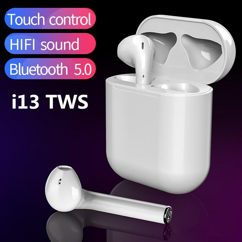 2019 I13 TWS Touch Control 1: 1 Auricular Bluetooth para Smartphone Auricular Bluetooth 5.0 PK i10 i11 i12 i7s i9  tws2019 I13 TWS Touch Control 1: 1 Auricular Bluetooth para Smartphone Auricular Bluetooth 5.0 PK i10 i11 i12 i7s i9  tws