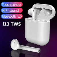 2019 I13 TWS Touch Control 1: 1 Auricular Bluetooth para Smartphone Auricular Bluetooth 5.0 PK i10 i11 i12 i7s i9 tws