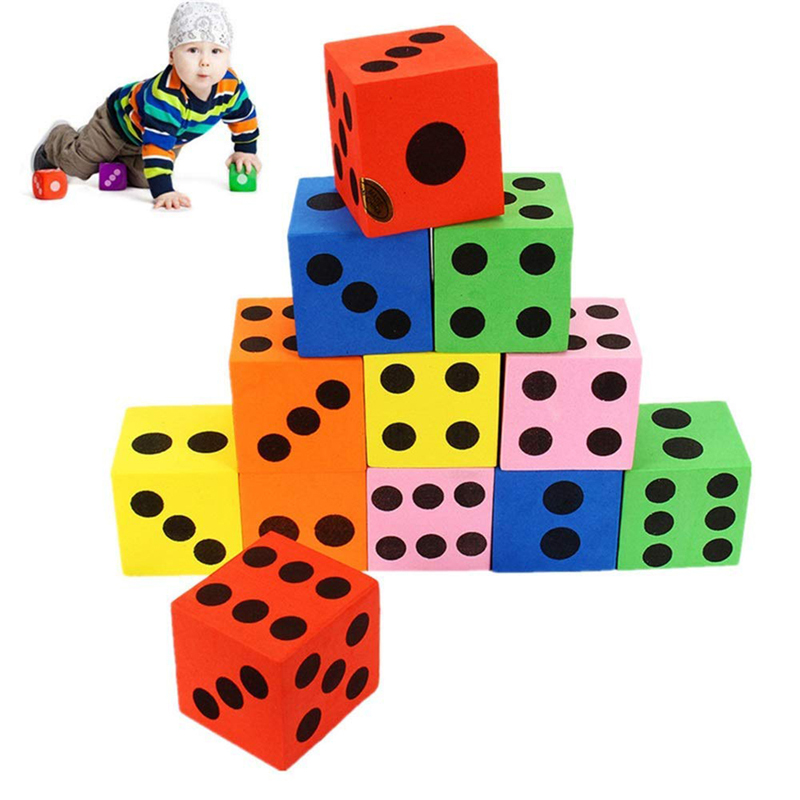 12 pcs/set 3.5cm Combination Of Magic Foam Dice Blocks Educational Pop for Game Gaming Children Adult Gift Cubes Children Toys image