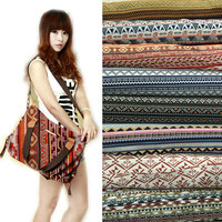 Polyester Cotton Fabric Ethnic Tribal Fabrics For Sofa Cover Cushion Cloths Curtains Cloth Tibetan Yarn Dyed