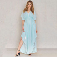 Short Sleeve Evening Party Solid Color Summer Dress Free Long Cotton Dresses Women Plus Size Vestidos Mujer Casual Dress 60A0092