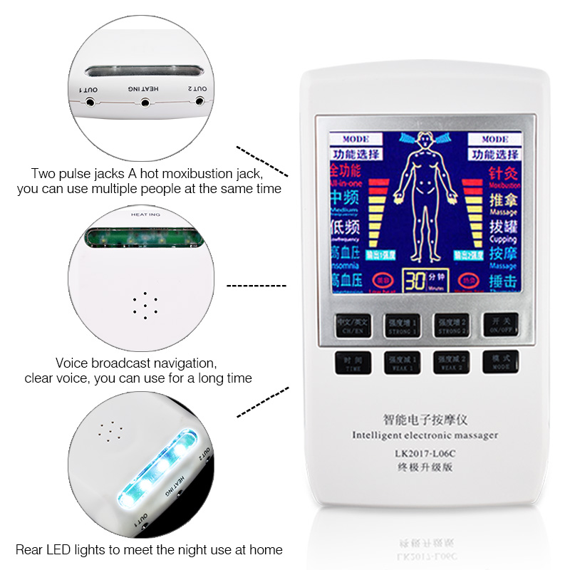 Electronic Physiotherapy Equipment Acupuncture Electrotherapy Body Knee Pain Relief Digital Therapy Health Care Massager ce semiconductor low level laser therapy for body pain relief healthcare physiotherapy body massager