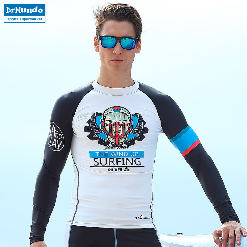 Rash Guard man long-sleeved long pant surf wetsuit swimwear Prevention Jellyfish quick-drying sun protection clothing camisa uv