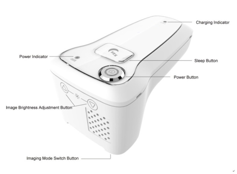 Инфракрасное оборудование для просмотра Вены/устройство для поиска вены идеальное оборудование для терапии для осмотра локатор для вен устройство Одобрено CE YX-Z01