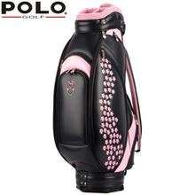 POLO Women Golf Standard Ball Package Golf Club Pu Bag Genuine Embroidery Anti Abrasion