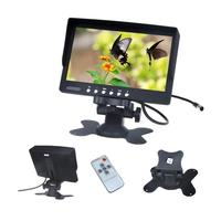 Car Monitor 7 Inch TFT LCD Screen Rotatable NTSC PAL Video System IR Remote Control Car