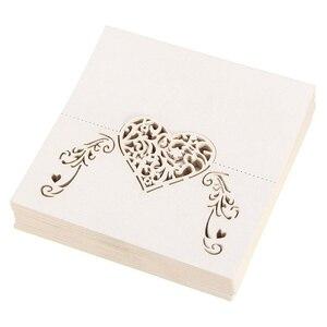 Image 4 - NICEXMAS الليزر قطع شكل قلب مكان بطاقات الزفاف اسم بطاقات ل زفاف حلية لتزيين طاولات الحفلات ديكور الزفاف