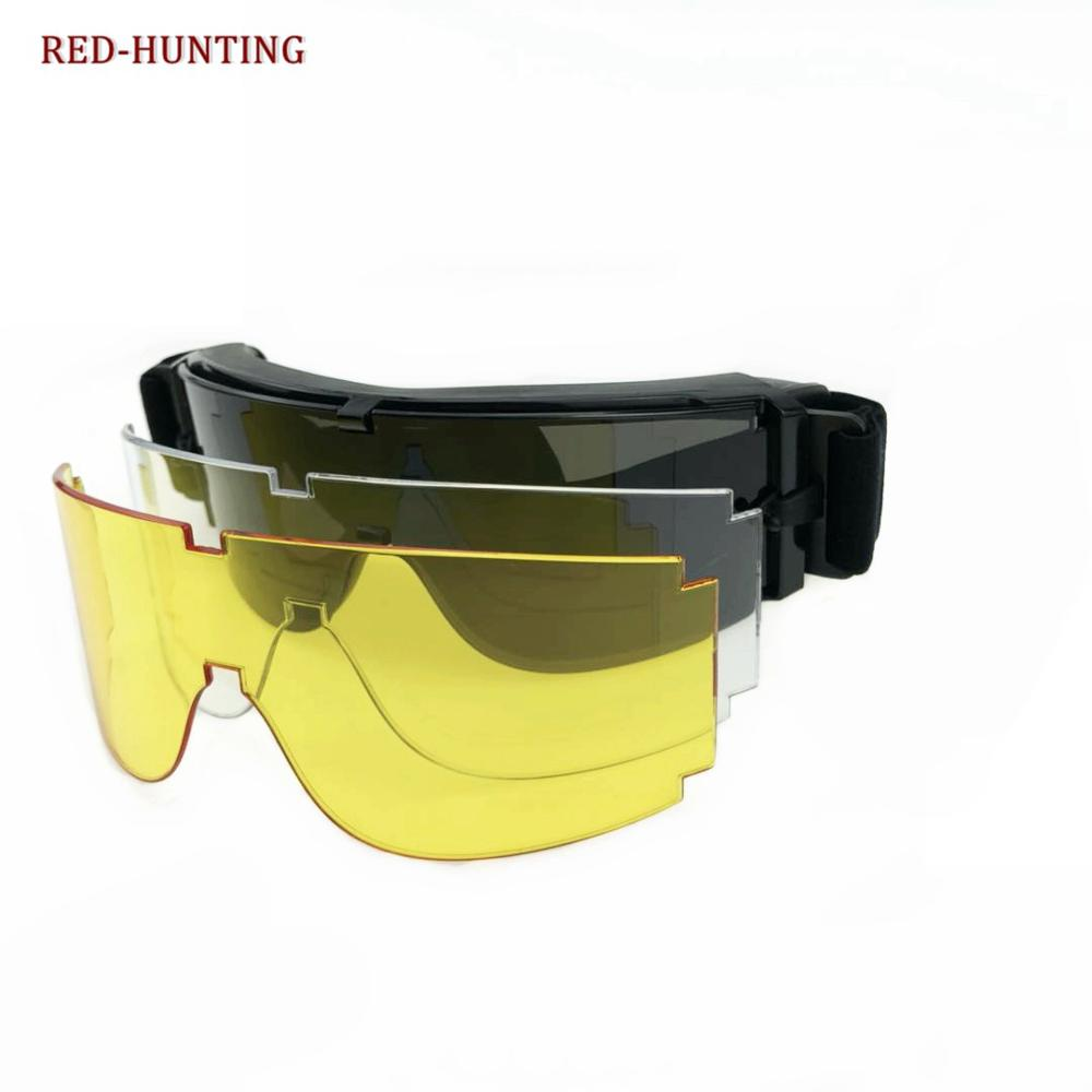 High Quality USMC Army Airsoft X800 Protective Goggles Outdoor Sport Tactical Sunglasses 3 Lens Glasses