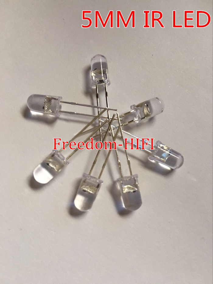 Free Shipping 1000pcs 5mm Led White Light Bulbs 5mm White Colour Led Emitting Diode F5mm White Led Active Components