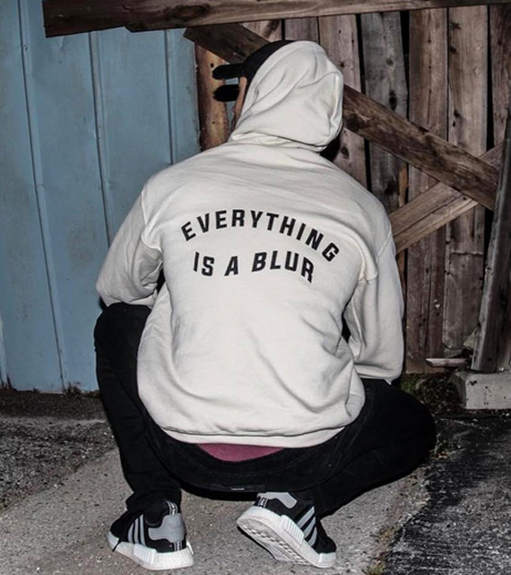 everything is a blur unisex hoodies letter graphic jumpers