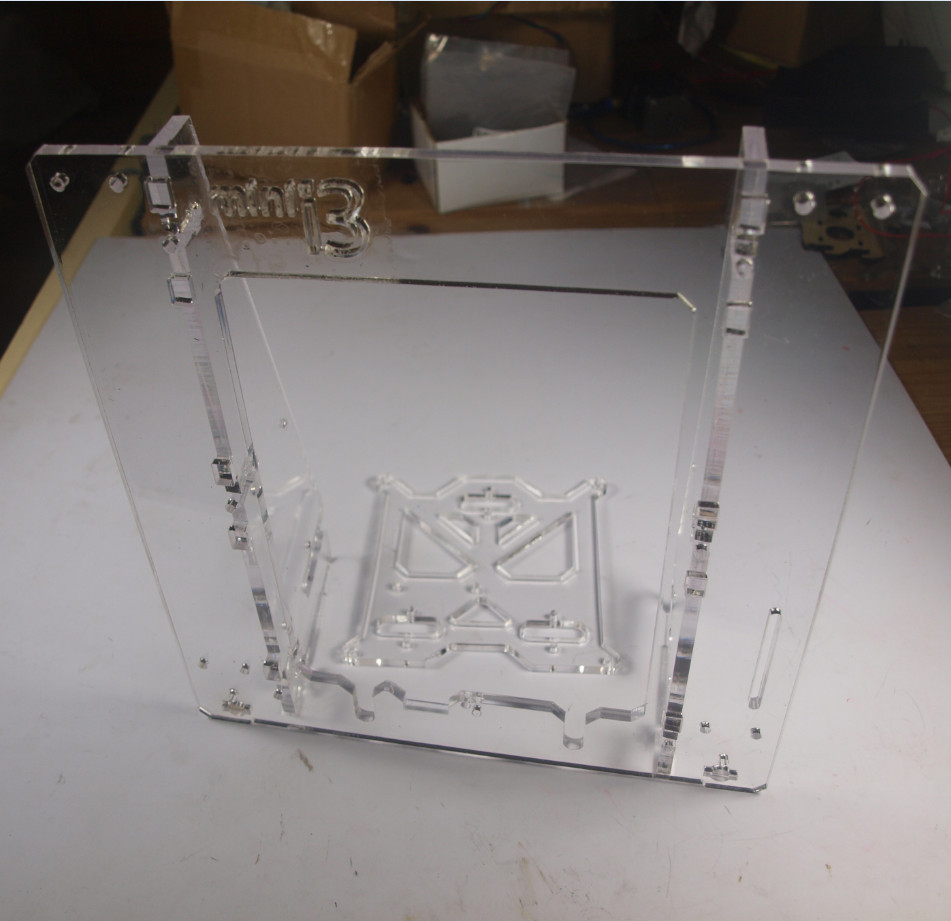 3 D printer parts reprap mendel prusa mini i3 laser cut acrylic frame 6mm transparent acrylic plate free shipping