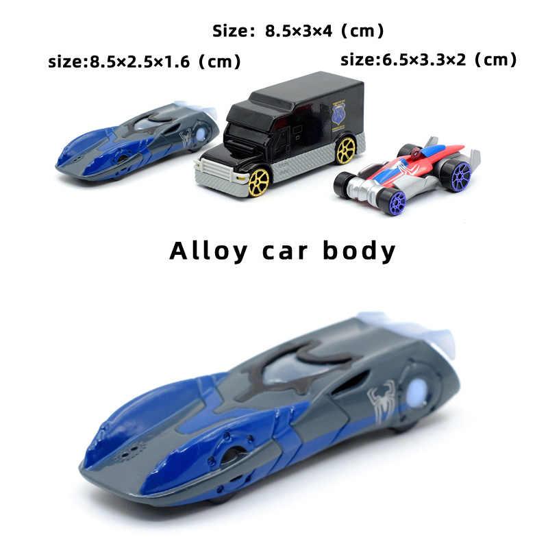 送料無料子供のおもちゃの車モデル合金スライド 1: 64 3 ピース/セット SpiderChariot セット金属車スーツ子供のギフトのため