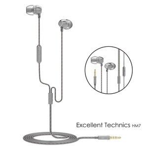 Image 2 - Auriculares de voz HD con micrófono y conector chapado en oro de 3,5mm, auriculares universales para teléfonos inteligentes, tabletas, MP4, UiiSii, HM7