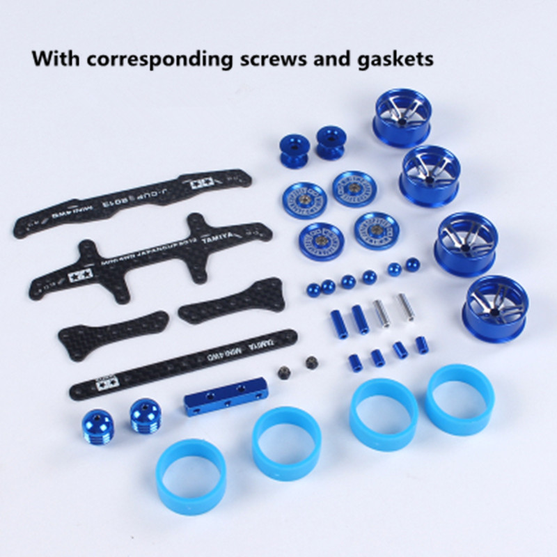 Free Shipping 1 Set MA/AR Chassis Modification Spare Parts Set Kit 2013 J-CUP Version For Tamiya Mini 4WD RC Car Model H003 free shipping 1 set ma ar s2 ms fm chassis modification spare parts set kit 2017 j cup version for tamiya mini 4wd rc car model