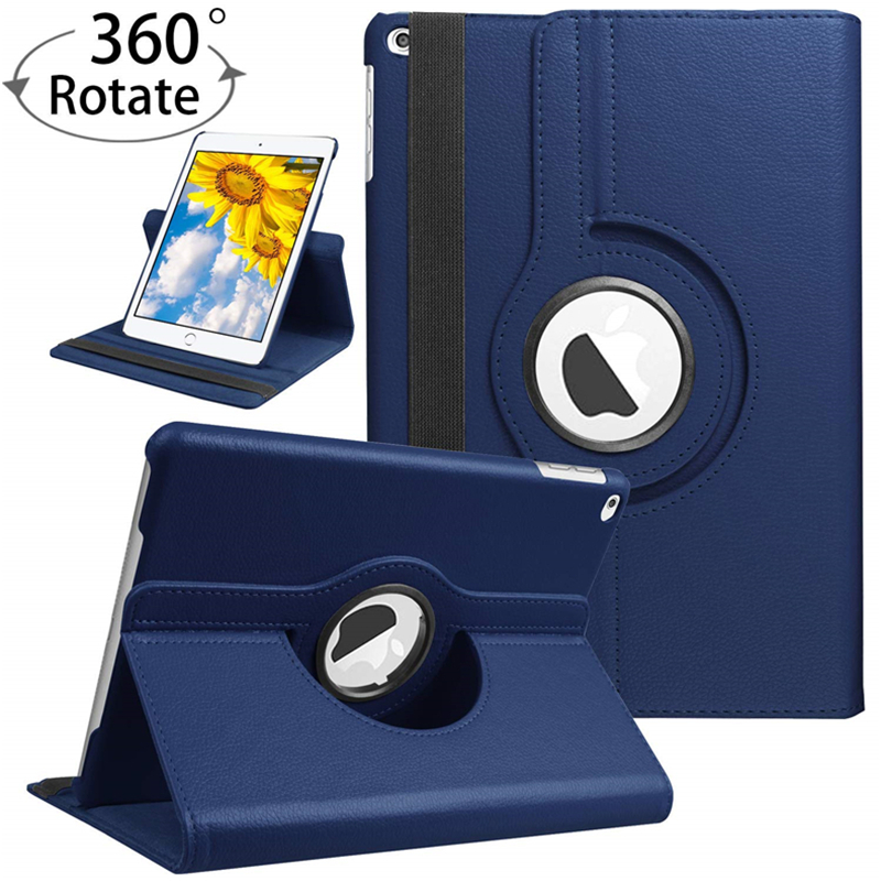For iPad 9.7 inch 2017/2018 Case for iPad Air 1/2 Cover 360 Rotating Flip PU Leather Magic Smart Case with Stand Holder