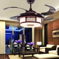 LED Chinese Zinc Alloy Acryl wood Ceiling Fan LED Lamp.LED Light.Ceiling Lights.LED Ceiling Light.Ceiling Lamp For Foyer