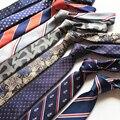SHENNAIWEI 6 cm listras gravata laço laços para homens presente