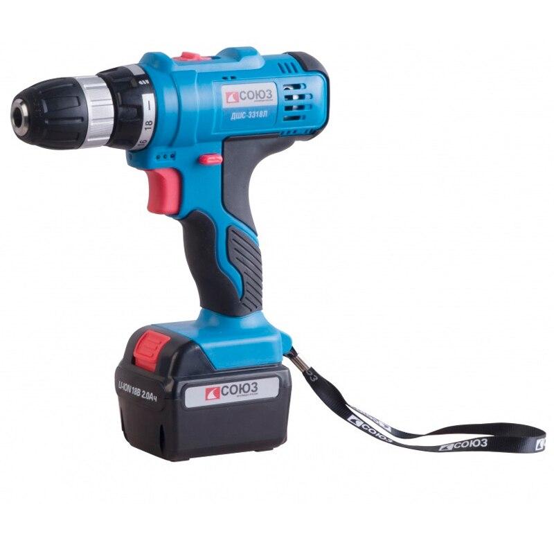 Cordless drill/screwdriver SOYUZ DSHS-3318L electric drill soyuz dus 2150