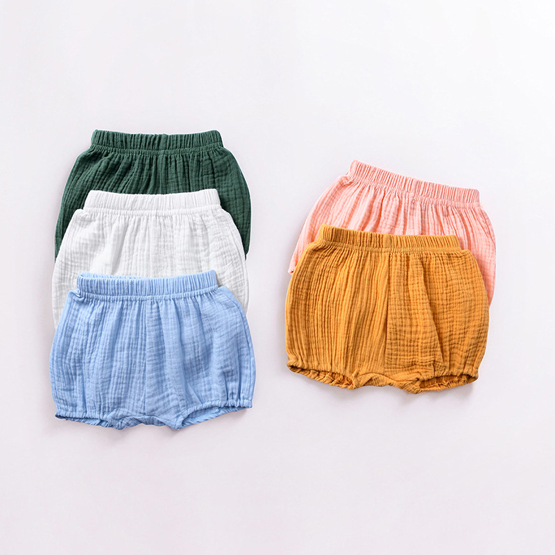 Baby Bread Short Pants Children's Boys And Girls Cotton Linen Large PP Shorts Infant Toddler Clothing Baby Bloomers Ropa Bebes