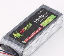 Original Ultra-alta Capacidad 4S Lion Poder Lipo Batería 14.8 V 10400 MAH 25C Akkus RC Coche Barco 4S 10000 mah de La Batería