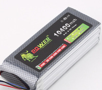 Original Ultra high Capacity Lion Power 4S Lipo Battery 14.8V 10400MAH 25C RC Heilecopter Car Boat 4S 10000mah Battery