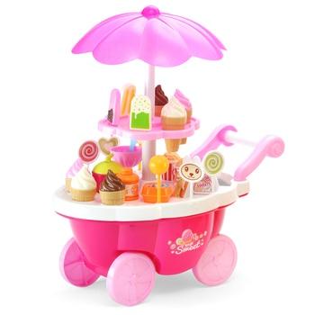 39 unids/set kichen juguete simulando coche pequeño niña mini carrito de dulces hielo supermercado hogar conjunto niños kichen juguete para niña los niños del bebé
