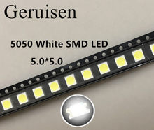 2000 pces 5050 smd led diodos smd 5050 branco/natureza branco led cct: 4000-4500k 0.2w-60ma 5050 nw