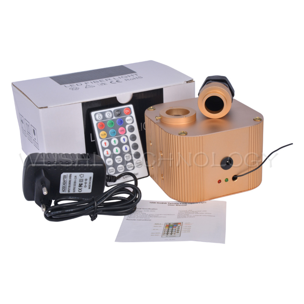 Mokungit Кри Чип 16 Вт RGBW светодиодный мерцающий волоконно оптический двигатель драйвер с 28key RF пульт дистанционного управления & EU/US/UK/AU разъем