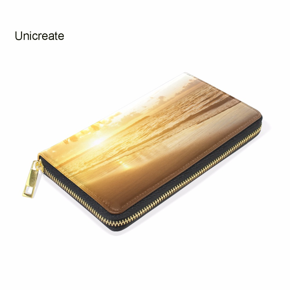 Фото 0.2Kg Genuine Cow Leather Women Coco Tree Printing Female Zipper Wallet Money Clips Woman Photo Holder Casual Purse Coin Pocket