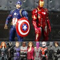 11 Colore Guerra Civile Captain America the AntMan Inverno Solider Hawkeye Pantera Nera Falco Dottor Strange PVC Figure Toy