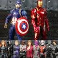 11 Cor Captain America the Avengers Hawkeye AntMan Inverno Solider Guerra Civil Pantera Negra Falcon Doutor Estranho Figura PVC Brinquedo
