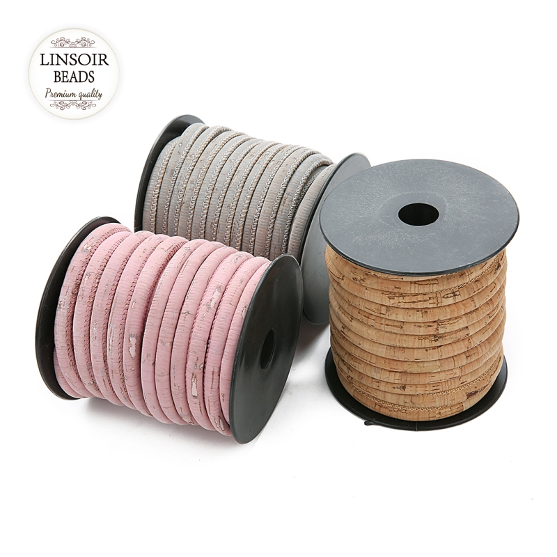 10m/roll Dia 6mm Round Leather Cords Vintage String Cord Rope For Handmade Diy Bracelets Necklace Jewelry Findings Materials
