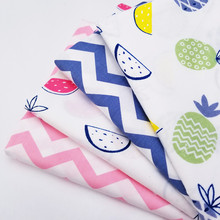 Cute Printing Cotton Twill Material Fabric Stripe Patchwork Crafts Cloth Handmade DIY Sewing Quilting