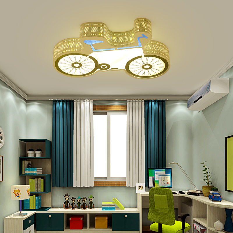 Ceiling Lights white color creative personality Indoor Lighting Ceiling Lamp Fixture Living Room Bedroom Bicycle corridor lamp