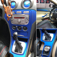 Para ford mondeo mk2/3/4 2007 2013interior painel de controle central maçaneta da porta de fibra carbono adesivos decalques estilo do carro acessórios|Adesivos para carro| |  -