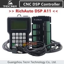 RichAuto controlador de movimiento DSP A11 CNC, A11S, A11E, 3 ejes, mando a distancia para grabado y corte CNC, versión en inglés, TECNR