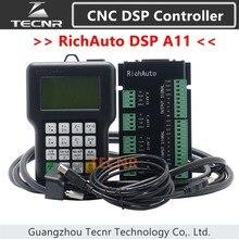 TECNR RichAuto DSP A11 ЧПУ контроллер A11S A11E 3 оси контроллер движения пульт дистанционного управления для ЧПУ гравировки и резки английской версии