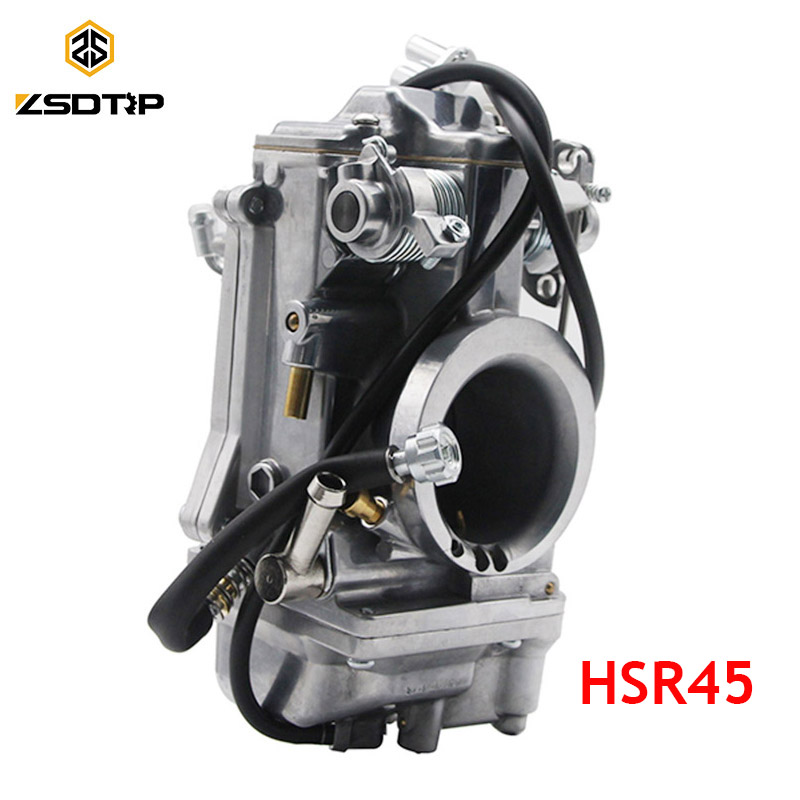 ZSDTRP HSR45 Mikuni 45mm Accelerator Pump Performance Pumper Carburetor  Carb TM45-2K Harley EVO Twin Cam