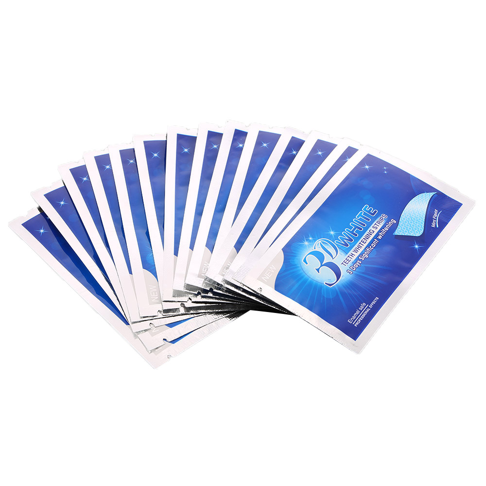 28Pcs 14Pair 3D White Gel Teeth Whitening Strips Oral Hygiene Care White Teeth Strips Tooth Whitening Dental Bleaching Tools in Teeth Whitening from Beauty Health