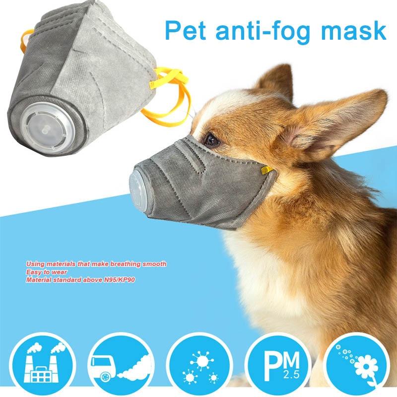 Abundante 3 Unids/set Perro Máscara Pm2.5 Filtro Anti-polvo Máscara Protectora Cubierta De La Boca Para Al Aire Libre Suministros Para Perros Myding